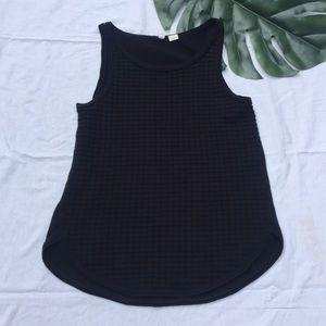 ANTHRO MOTH | black textured sweater tank top